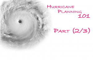 hurricane planning checklist